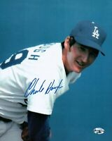 Charlie Hough Signed 8X10 Photo Autograph Los Angeles Dodgers Close Up Auto COA
