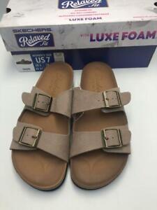 New Skechers Women's Granola Cork Footbed Two Strap Sandal with Luxe Foam