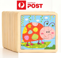 NEW Kids Wooden Jigsaw Puzzle Toy Children Baby Cute Insects Educational
