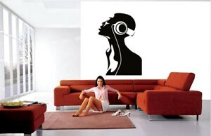 Headphones Wall Art Stickers Music Home Decorations Art room Removable Decals