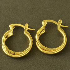 authentic Trendy 14K gold filled Womens childrens round small Hoop Earrings