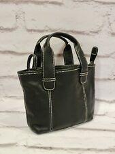 Marks & Spencer black leather handbag