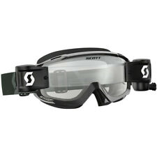 Scott NEW Mx Split OTG WFS Black White Motocross Dirt Bike Roll-off Goggles