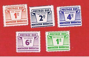 Northern Rhodesia #J5//J10  MNH OG  Postage Due  Free S/H