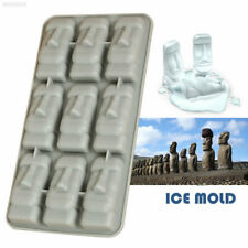 A4FA Easter Island Kitchen Ice Cube Mold Ice Tray Mold 3D Statues Bar Ice Mould