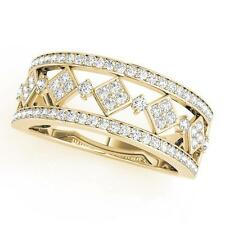 NEW LADIES 14k YELLOW GOLD DIAMOND RHOMBUS DESIGN RING BAND