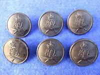 6x Black 10th Princess Mary/'s Own Gurkha Rifles 23mm Buttons