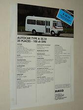 Prospectus Autocar IVECO A55  Bus Bussen  Busse Car brochure catalogue prospekt