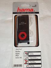 """00013242 caso Hama """"Sport"""" MP3 Funda para Ipod Nano 5G, negro + Correa + Lámina"""