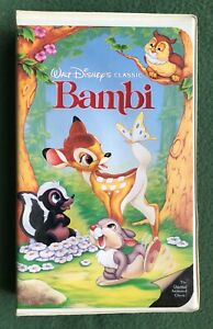 Walt Disney's Bambi VHS Video Tape Black Diamond Classics Flower Thumper