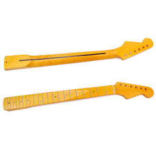 22 Frets Flame Maple Guitar Neck Replacement for ST Electric Guitar Ku