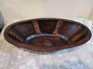 Hosley International, Elegant Expressions Iron Oval Textured Decorative Bowl