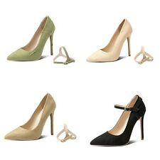 Women's 12cm High Heel Pointed Toe Shoes Cross-Dressers Strap Pumps US Size 3~15