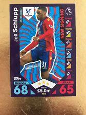 Match Attax Extra 16/17 Crystal Palace #NS6 Jeff Schlupp-New Signing Card