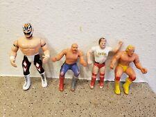 Vintage 80's 90's WWF WCW Action Figure Toy Lot Hulk Roddy Sheik Rey Mysterio