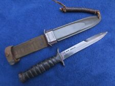 WW2 ORIGINAL M3 KNIFE AND SHEATH MADE BY CAMILLUS BLADE MARKED