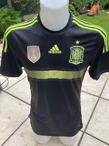 Spain Away Football Shirt 2013/14 Adidas Small Classic Soccer Jersey