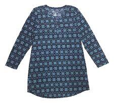 Croft & Barrow Size Small Blue Fair Isle Print Soft Waffle Fabric Nightgown NEW