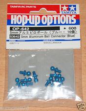 Tamiya 53642 5mm Aluminum Ball Connectors (Blue) (TRF417/TRF418/TRF419), NIP
