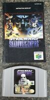 N64 Star Wars Shadows Of The Empire Authentic Nintendo 64 Game Tested & Clean