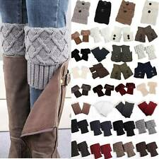 Women Ladies Boot Cuffs Toppers Leg Wellies Winter Knitted Socks Slouch 7 Types