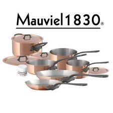 Mauviel M'150c Kupfer & Edelstahl 1,5 mm Topf-Set 10-teilig Eisengriffoptik