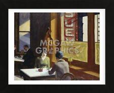 Automat 1927 by Edward Hopper Art Print Lady Coffee restaurant Poster 14x11