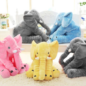 "24""Large Soft Cute Pillow Plush Stuffed Elephant Animal Toy Teddy Bear Kids Gift"