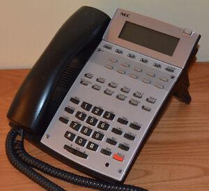 NEC 0890043 IP1NA-12TXH TEL 22B HF/Disp Aspire Phone-BK GOOD DISPLAY YR Warranty