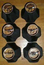 Popular Brand 6 Black Silk Inverted Hex Chandelier Lamp Shades w/ Designer Trim