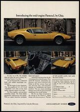 1973 PANTERA L Yellow Sports Car By Ghia - Detomaso - VINTAGE AD