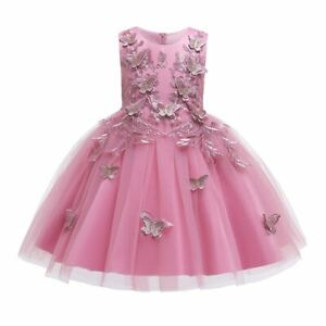 Lace Formal Evening Wedding Dress Flower Girls Clothing Kids Party For Clothes