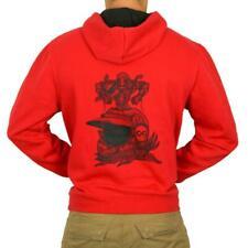 Hooded Sweatshirt Motorcycle Man L'Entourloop Tree Of Life Red Size M