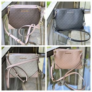 Michael Kors Women Lady Leather Crossbody Messenger Bag Handbag Shoulder Black