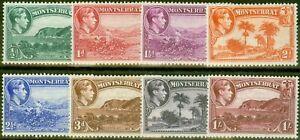Montserrat 1938 Perf 13 set of 8 to 1s SG101-108 V.F Very Lightly Mtd Mint