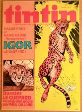 BD Comics Magazine Hebdo Journal Tintin No 38 35e Igor Le Guépard