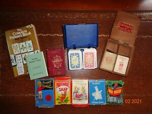 vintage playing card games families woodland lexicon rabbit maid joblot