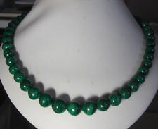 "UNIQUE 20""LONG NATURAL MALACHITE  NECKLACE  FROM SRI LANKA"