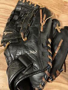 "Mizuno Black Youth GPL1150D2 11.5"" Leather Baseball Glove, Tartan Web"