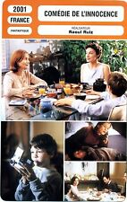 Fiche Cinéma. Movie Card. Comédie de l'innocence (France) 2001 Raoul Ruiz