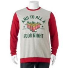 Big & Tall And To All A Good Night Christmas Fleece Pullover XXL Tall Beer Pong