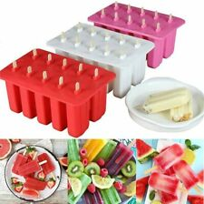Ice Cream Popsicle Frozen Mold Silicone Lolly Pop Maker Mould Ice Tray Cover Lid