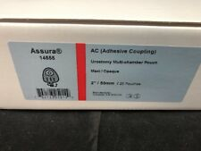 "COLOPLAST ASSURA 14555  1 BOX/20 EA Adhesive Coupling 2""/50mm Urostomy Multi NEW"