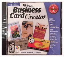 BRODERBUND BUSINESS CARD CREATOR (PC) BRAND NEW SEALED - FREE U.S. SHIP