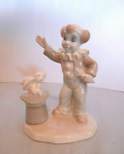 """1988 """"The Valentino Collection"""" Porcelain Clown Magician Figurine-Italy"""