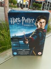 HARRY POTTER YEARS 1 - 4 DVD SET USED IN VERY GOOD CONDITION ZONE 2
