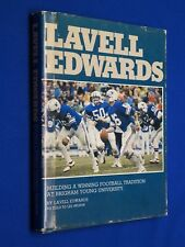 SIGNED 1980 Lavell Edwards Building a Winning Football Tradition BYU Mormon LDS