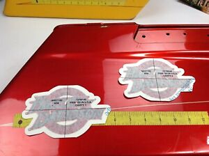 Genuine Harley Softail Fuel Gas Tank Set of 2 Decals Emblems Badges OEM