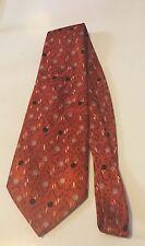 Vintage Design Orange Necktie Tie