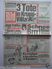 Bild Zeitung vom 3.1.1985, Joan Collins, Charlene Tilton, Pia Zadora, Elvis